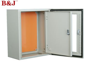 China Light Grey Metal Electrical Enclosure Box , Metal Surface Mount Electrical Box factory