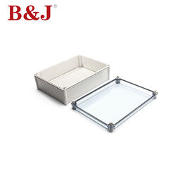 China Clear Cover ABS Plastic Electrical Enclosure Boxes With Mounting Plate distributor
