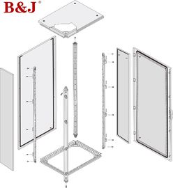 Free Standing Industrial Electrical Enclosures 1.5mm Thickness Sheet Steel