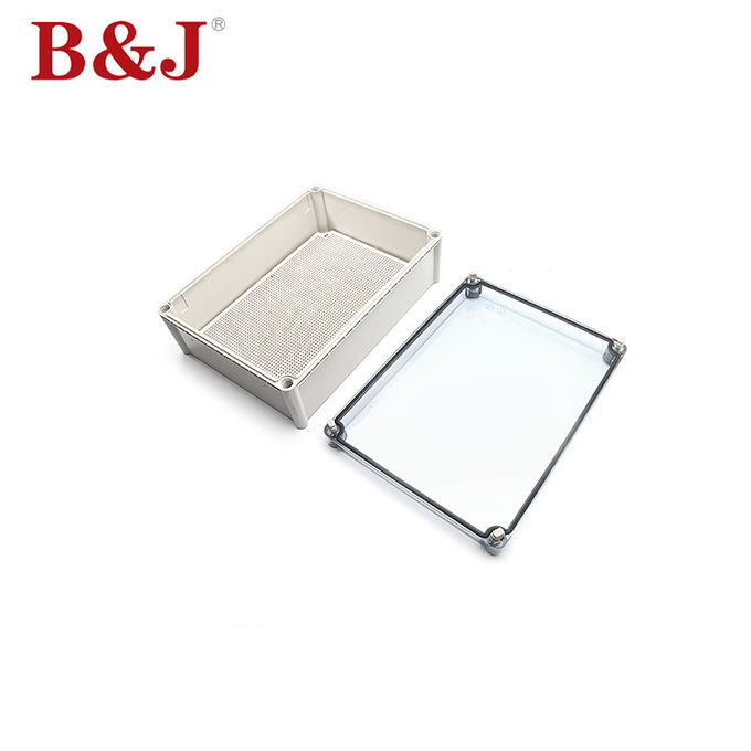 280X380X130 IP68 Plastic Transparent Lid Waterproof and Moisture-Proof Junction Box
